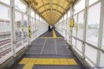 阪神本線で8両運転へ?武庫川駅ホーム延伸工事(7月編②・下りホーム編)