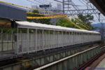 阪神本線で8両運転へ? 武庫川駅ホーム延伸工事(9月編①・上りホームにあまり変化なし)