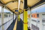 阪神本線で8両運転へ? 武庫川駅ホーム延伸工事(10月編①・ついに柱が建ちました!)