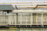 阪神本線で8両運転へ? 武庫川駅ホーム延伸工事(10月編②・ついに柱が建ちました!)