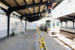 大阪環状線・鶴橋駅に謎の囲い…ホームドア設置工事用の設備が登場?