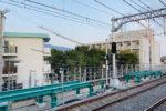 阪神本線で8両運転へ?魚崎駅ホーム延伸工事の様子(11月・上りホームに鉄骨登場)