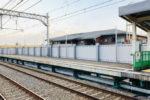 阪神本線で8両運転へ?魚崎駅ホーム延伸工事の様子(11月・下りホームはほぼ完成)
