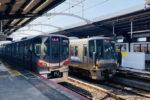20201002、鶴橋駅にホームドア本体が設置される(その1)